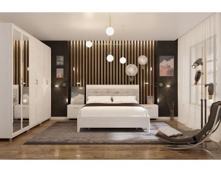 Спальня Мелисса - композиция 3, цвет Снежный Ясень