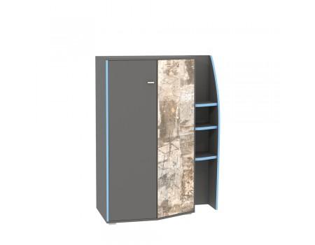 Шкаф Индиго мцн 10.20, цвет: Тёмно-серый / Граффити