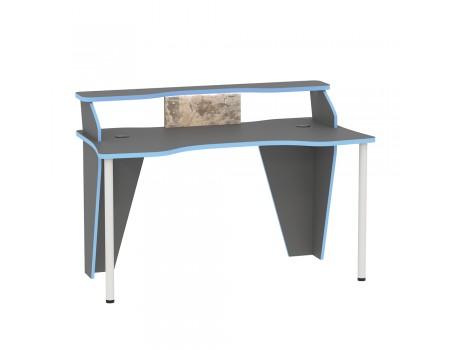Стол компьютерный Индиго 12.61, цвет: Тёмно-серый / Граффити