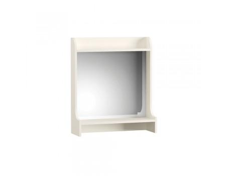 Полка с зеркалом Ливерпуль 10.118, цвет: Ясень ваниль / Белый