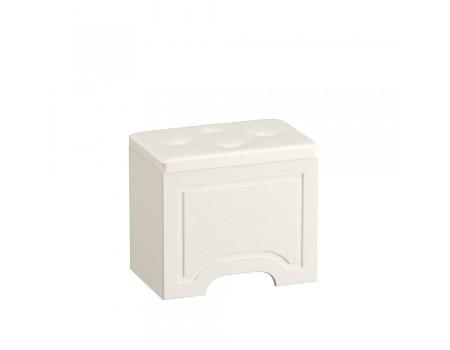 Пуф Ливерпуль 14.02, цвет: Ясень ваниль / Белый