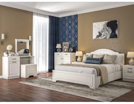 Спальня серии Ливерпуль, цвет: Ясень ваниль / Белый