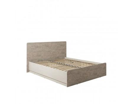 Кровать Амели 11.31, цвет: Шёлковый камень / Бетон Чикаго беж