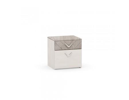 Тумба прикроватная Амели 13.78, цвет: Шёлковый камень / Бетон Чикаго беж