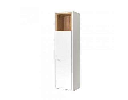 Шкаф комбинированный Бэль 10.63, цвет: Белый премиум / Дуб Крафт Золотой