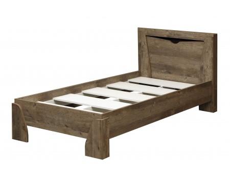 Кровать одинарная с настилом 33.07 Лючия, цвет: Кейптаун / Венге