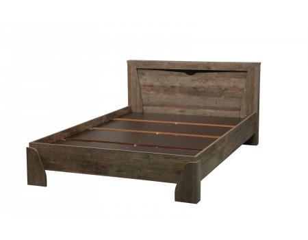 Кровать с настилом 33.08 Лючия, цвет: Кейптаун / Венге