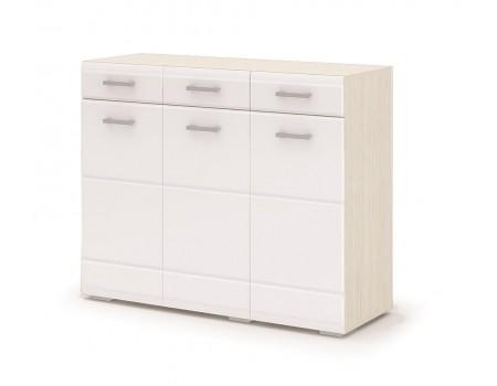 Комод Симба, цвет: Дуб Белфорт / Белый глянец