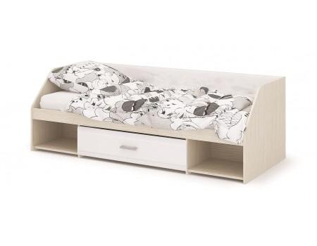 Кровать одноярусная Симба, цвет: Дуб Белфорт / Белый глянец