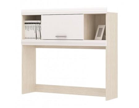 Надстройка для стола Симба, цвет: Дуб Белфорт / Белый глянец