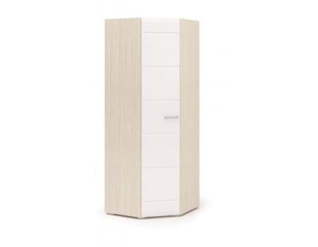 Шкаф угловой одностворчатый Симба, цвет: Дуб Белфорт / Белый глянец