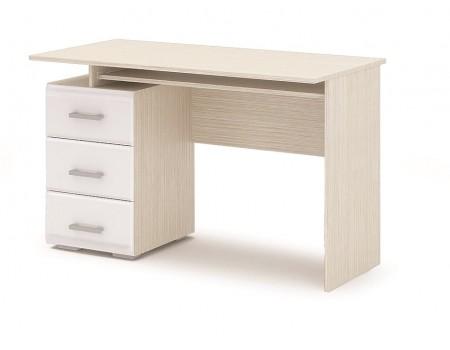 Стол письменный Симба, цвет: Дуб Белфорт / Белый глянец