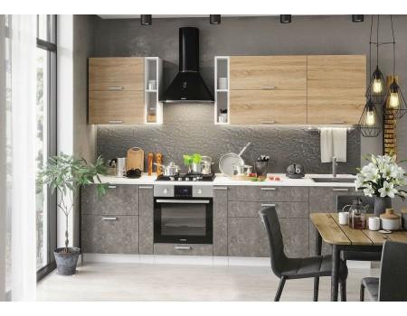 Кухня Бетон - композиция 2, цвет: Бетон темный