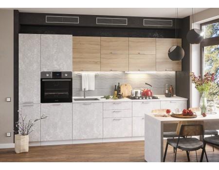Кухня Бетон - композиция 3, цвет: Бетон темный