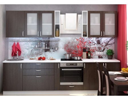 Кухня Дина - композиция 1, цвет: Венге
