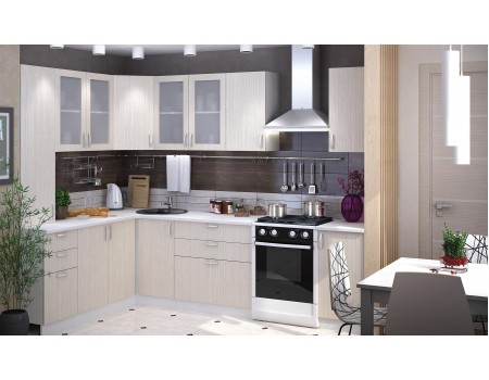 Кухня Дина - композиция 2, цвет: Дуб Белфорт