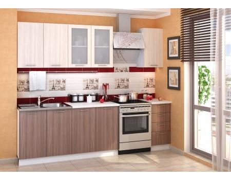 Кухня Дина - композиция 3, цвет: Шимо тёмный / Шимо светлый