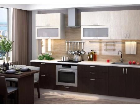 Кухня Дина - композиция 4, цвет: Венге / Дуб белфорт