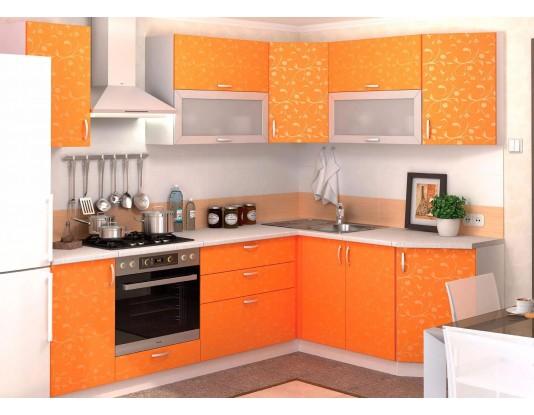 Кухня Дина принт - композиция 4, цвет: Манго принт