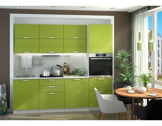 Кухня Глория - композиция 5, цвет: Олива металлик