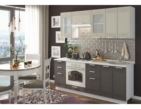 Кухня Кремона - композиция 10, цвет: Муссон / Крем