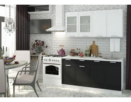 Кухня Кремона - композиция 2, цвет: Оникс / Сноу