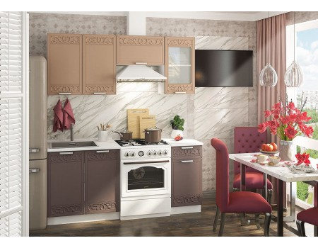 Кухня Кремона - композиция 6, цвет: Амаретто / Грация