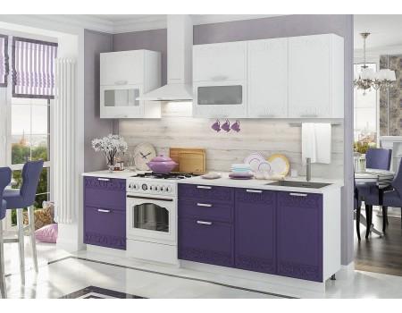 Кухня Кремона - композиция 8, цвет: Орхидея / Сноу