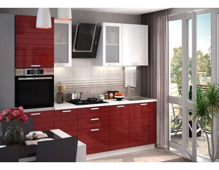 Кухня Линда - композиция 1, цвет: Гранат металлик