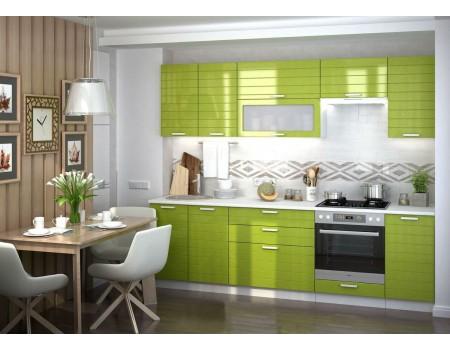 Кухня Линда - композиция 2, цвет: Олива металлик