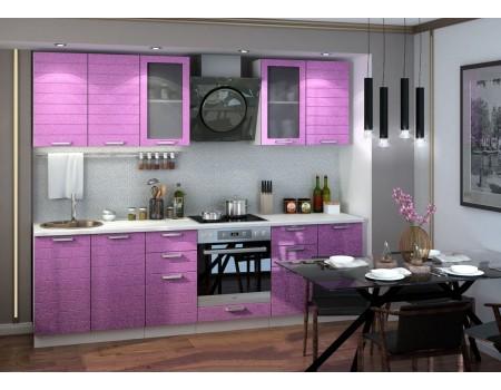 Кухня Линда - композиция 4, цвет: Фиолетовый металлик