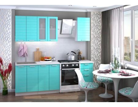 Кухня Линда - композиция 5, цвет: Бирюза металлик