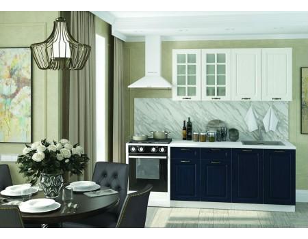 Кухня Мария - композиция 1, цвет: Синий / Дуб белый