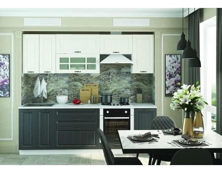 Кухня Мария - композиция 11, цвет: Графит / Крем