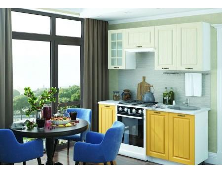 Кухня Мария - композиция 4, цвет: Жёлтый / Крем
