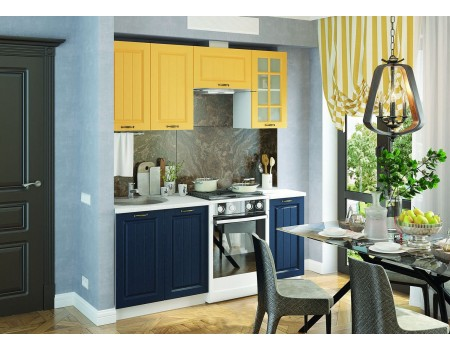 Кухня Мария - композиция 6, цвет: Синий / Жёлтый
