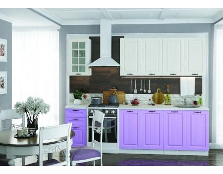 Кухня Мария - композиция 8, цвет: Сирень / Дуб белёный
