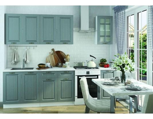 Кухня Мария - композиция 9, цвет: Сталь