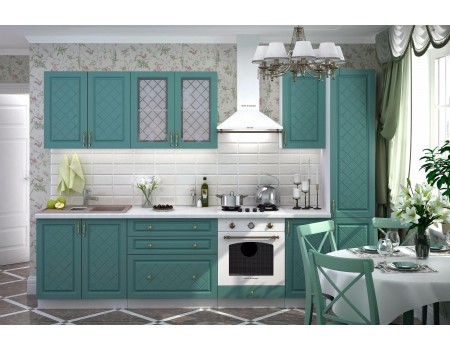 Кухня Модена - композиция 3, цвет: Дуб бирюза