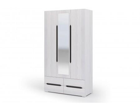 Шкаф 3-х створчатый с ящиками Валенсия, цвет: Дуб Анкор