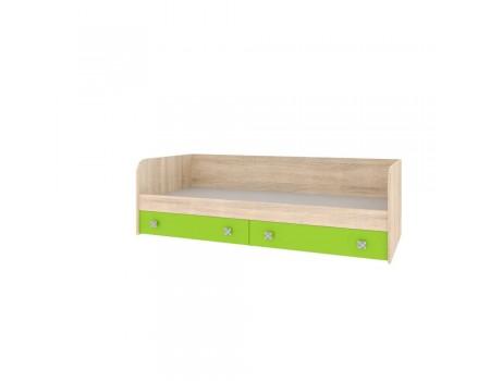 Кровать с ящиками Колибри, цвет: Дуб Сонома / Акрил Мохито