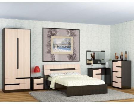 Спальня Гавана - композиция 3, цвет: Венге цаво, Дуб молочный