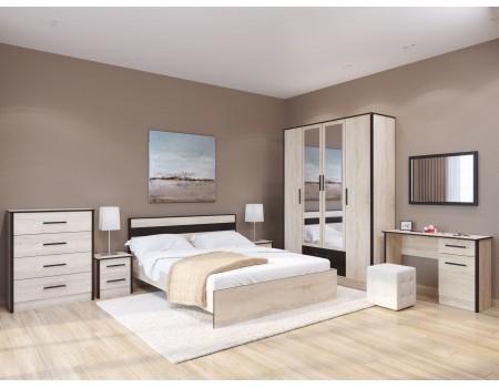 Спальня Лирика - композиция 1, цвет: Дуб сонома, Венге цава