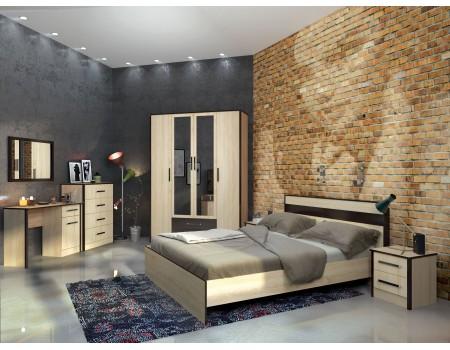 Спальня Лирика - композиция 2, цвет: Дуб сонома, Венге цава